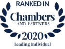 Ranked in Chambers - leading individual 2020