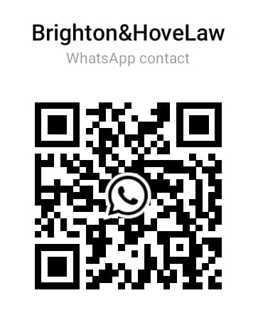 Scan this code using WhatsApp to get Brighton&Hove Law number.